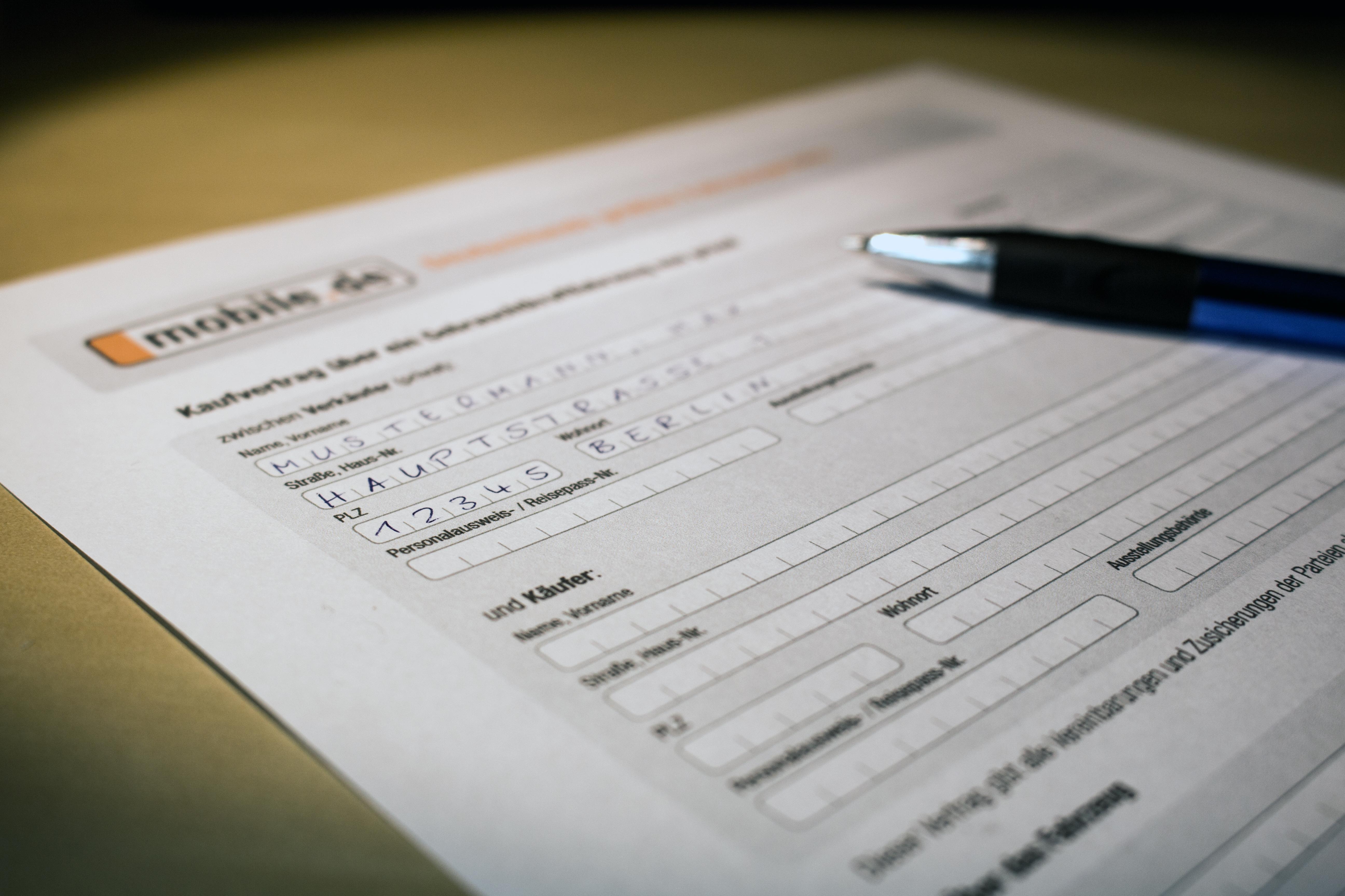 Muster Kaufvertrag Auto (privat & gewerblich) | Was Sie beachten müssen!
